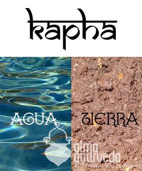 Dosha kapha elementos agua y tierra.